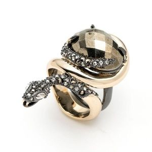ALEXIS BITTAR • Elements Snake Stone Serpent Ring